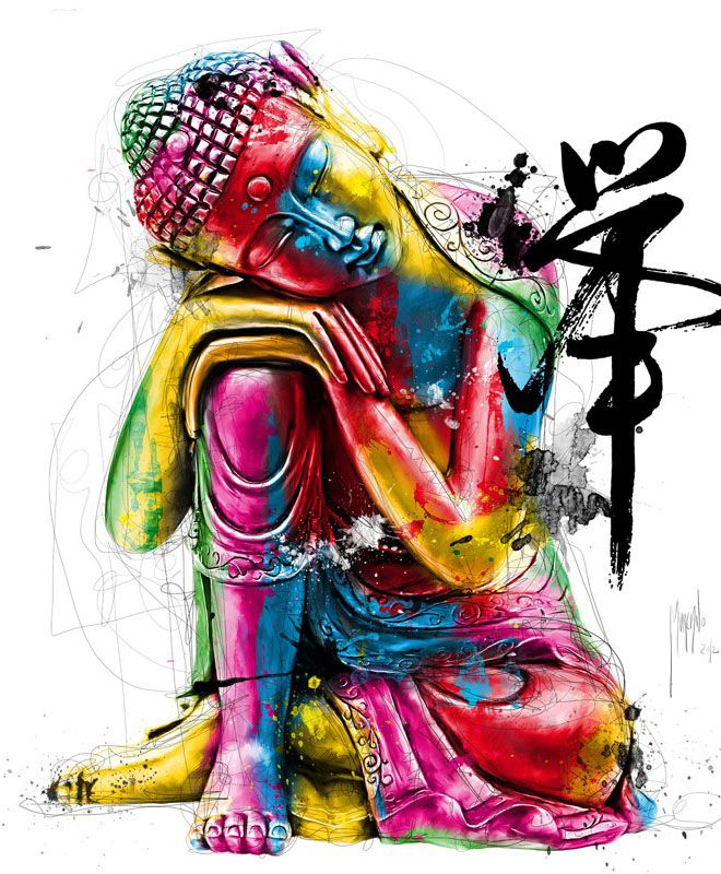 colourful buddha