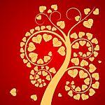 Leaf and tree Budda