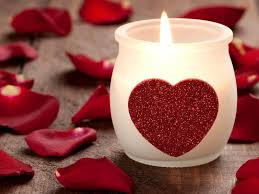images candle and heart