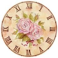 images clock pink rose