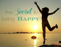 secret to being happy
