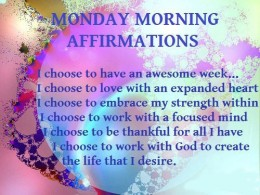 Affirmation of the week 1