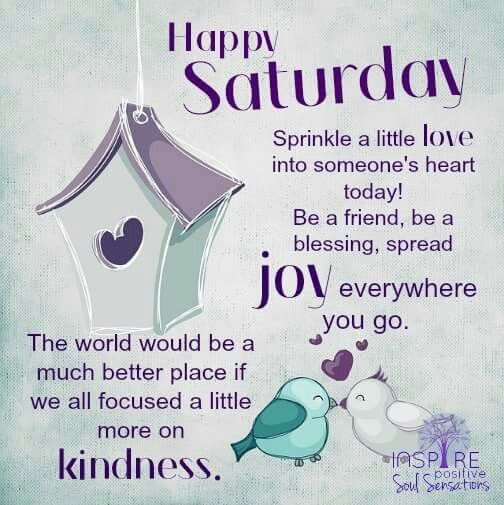 Saturday kindness
