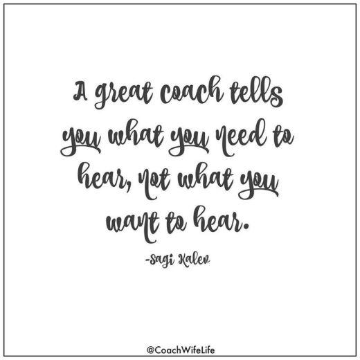 a great coach