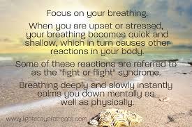 Focus breathing