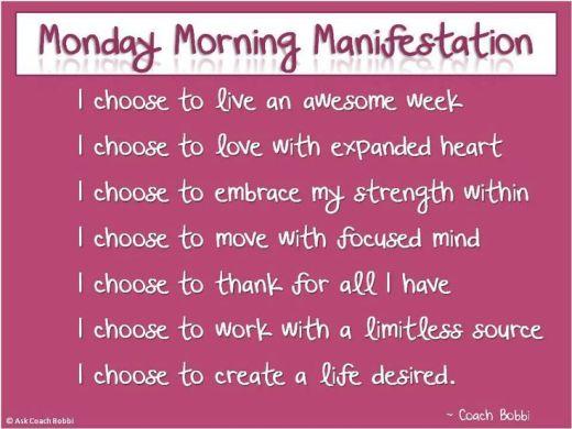 Monday morning start up