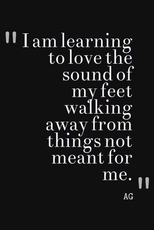 learn to walk away